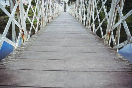 Wooden bridge over the river #410573