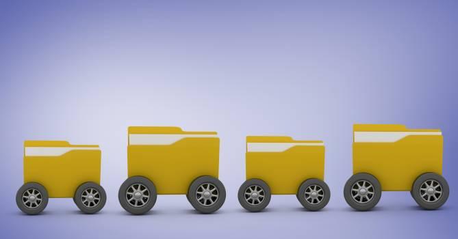 Folders with wheels #410686