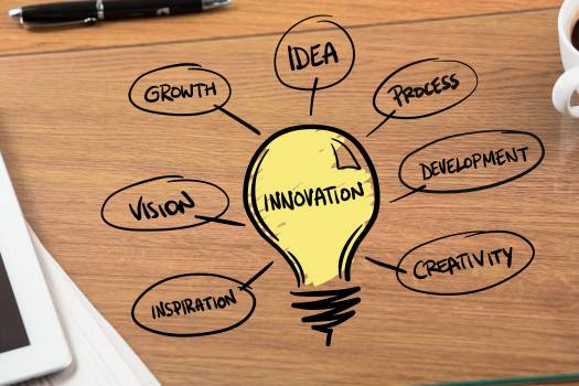 Innovation graphic on desk #410771
