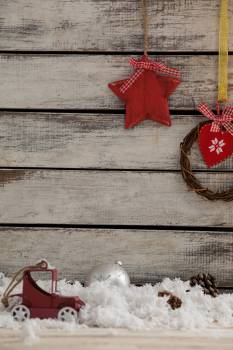 Christmas decoration with hanging wreath #410831