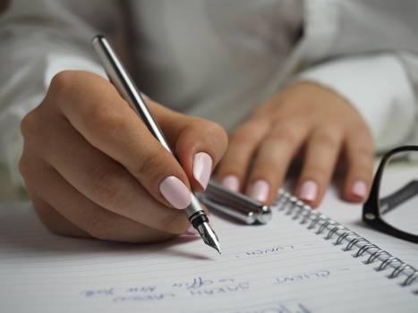 Woman Writing Notepad Free Photo #410833