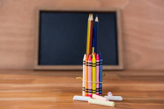 Various crayons and colored pencils #410935