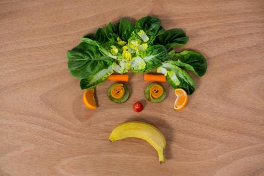 Sad face made of fruits and vegetables #410959