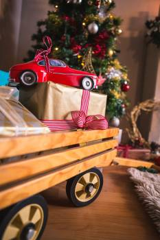 Christmas gifts and presents Free Photo