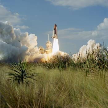 STS-80 Columbia, OV 102, liftoff from KSC Launch Pad 39B Free Photo