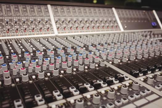 Close-up of a sound mixer #411187