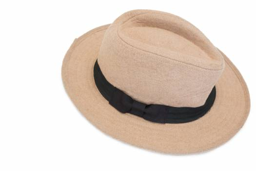 Beach hat on white background #411206