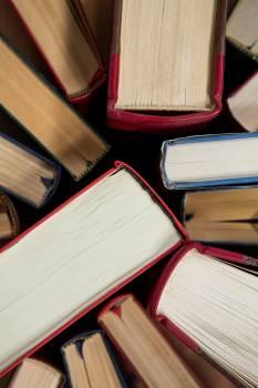 Close-up of books arranged #411277