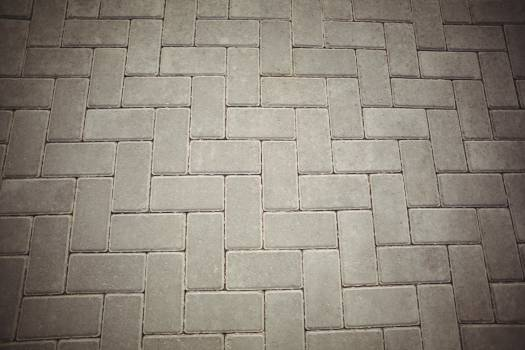 Paved tiles on walkway #411350