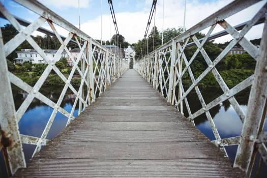 Wooden bridge over the river #411433