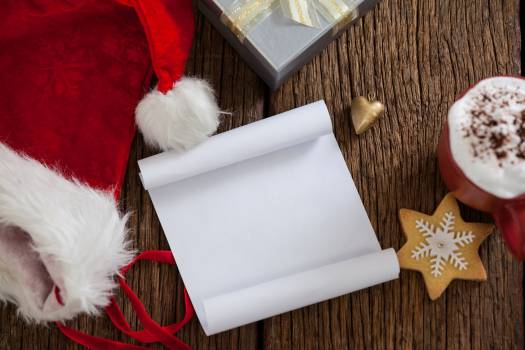 Blank paper with santa hat #411795