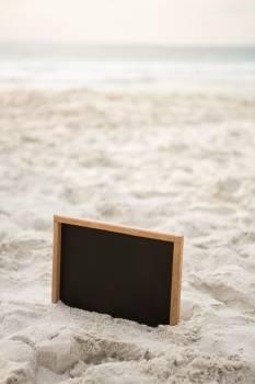 Blank slate in sand #411855