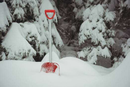 Shovel in a snowy landscape #411858
