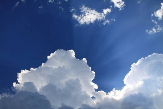 Sunlit on Blue and White Clouds during Daytime Free Photo