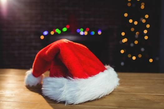 Santa hat on wooden plank #411905