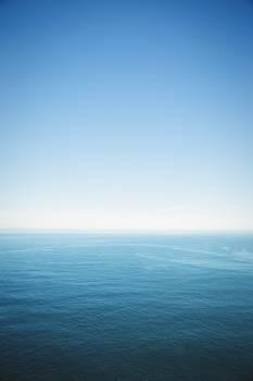 Sea under clear blue sky #412106