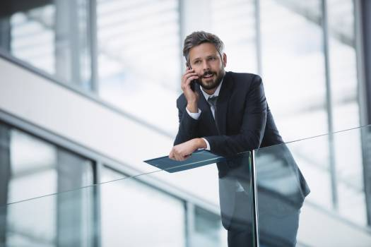 Businessman using mobile phone #412132