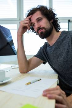 Male graphic designer sitting in office #412166