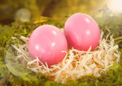 Pink Easter eggs #412240