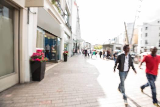 Blur view of pedestrian walking on street #412282