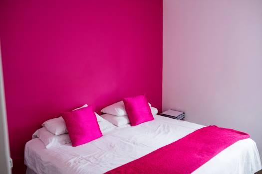 Empty bed in bedroom #412332