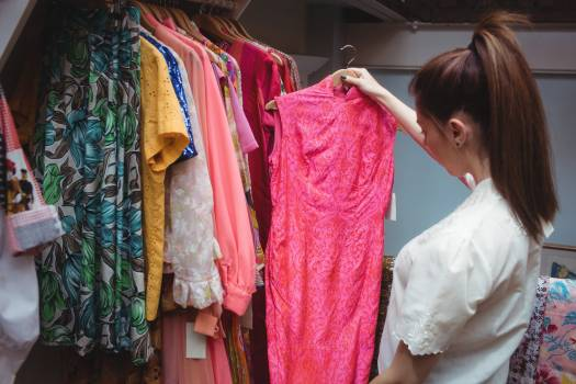 Woman selecting a clothes #412405