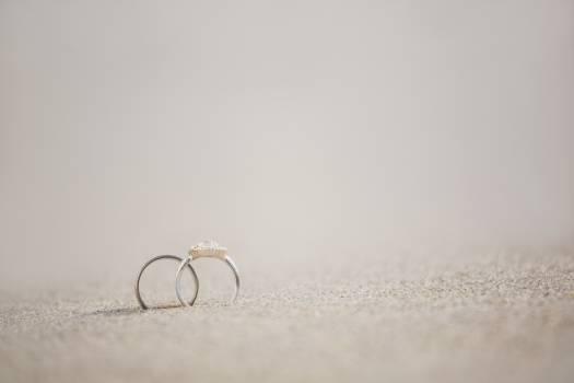 Pair of wedding ring on sand #412420