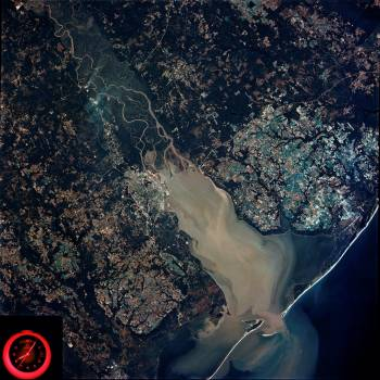 Mobile Bay, Alabama area seen in Skylab 4 Earth Resources Experiment Package #412466