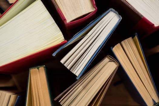 Close-up of books arranged #412468