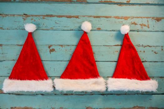 Santa hat on wooden plank #412551