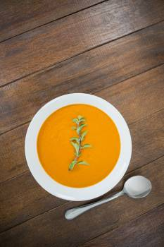 Bowl of pumpkin soup #412560
