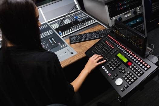 Female student using sound mixer #412620