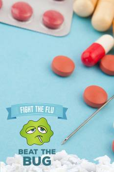 Fight the flu design Free Photo