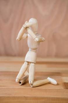 Figurine showing expressive emotion Free Photo