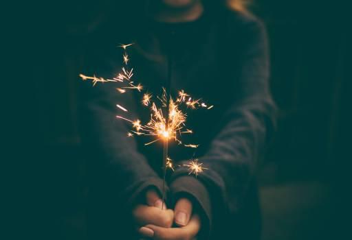 Woman Sparkler Firework Night Free Photo #413026