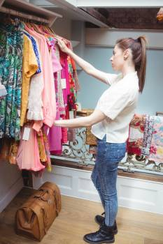 Woman selecting a clothes #413281