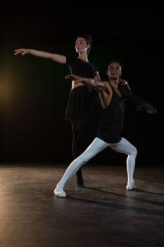 Ballet partners practicing ballet dance #413319