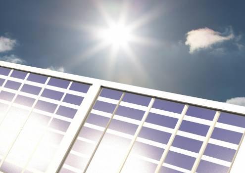 Solar panel on a sunny day #413345
