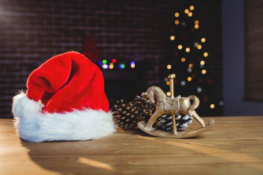 Christmas decorations on table #413428