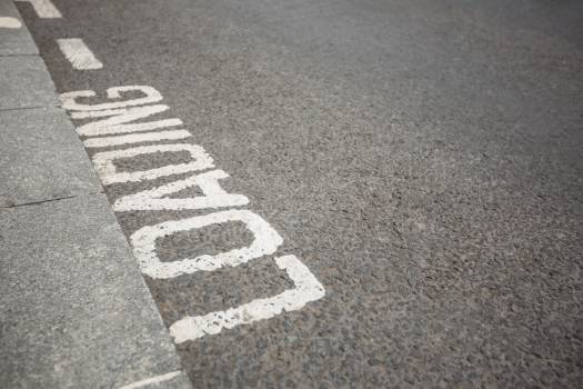 Text written on road surface #413465