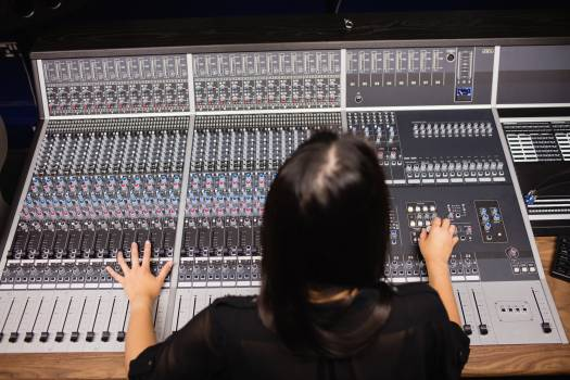 Female student using sound mixer #413518