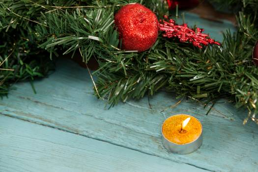 Christmas decoration with tealight candle #413576