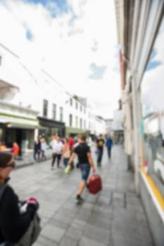 Blur view of pedestrian walking on street #413616