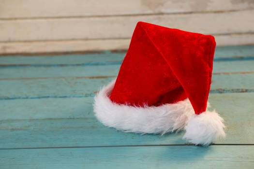 Santa hat on wooden plank #413644
