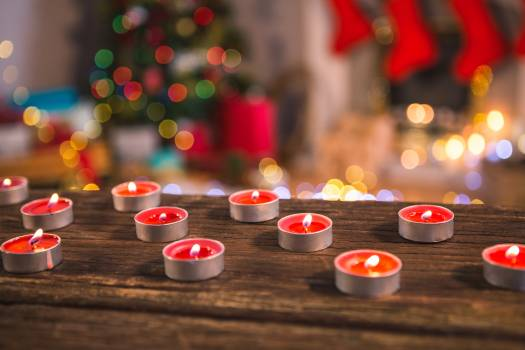 Tealight candles burning #413666