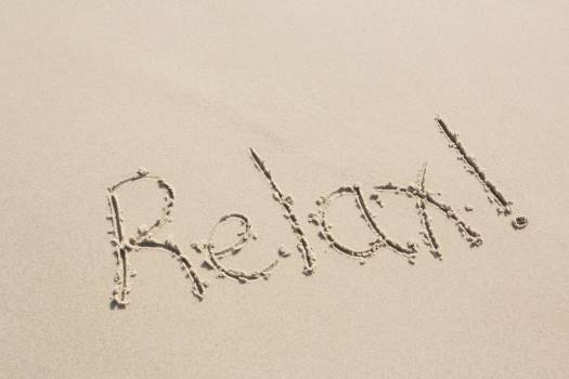 Relax written on sand #413704