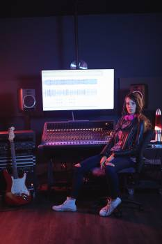 Portrait of female audio engineer #413707