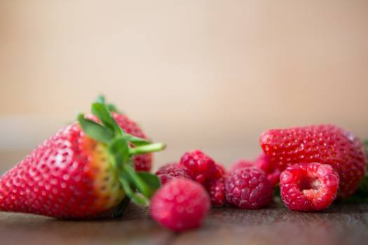 Close-up of fresh strawberries and raspberries #413805