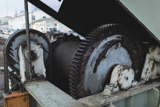 Vessel mechanisms on a deck #413881