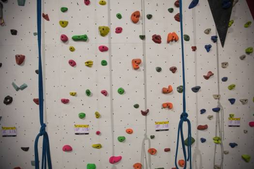 Artificial climbing wall for practice #413913